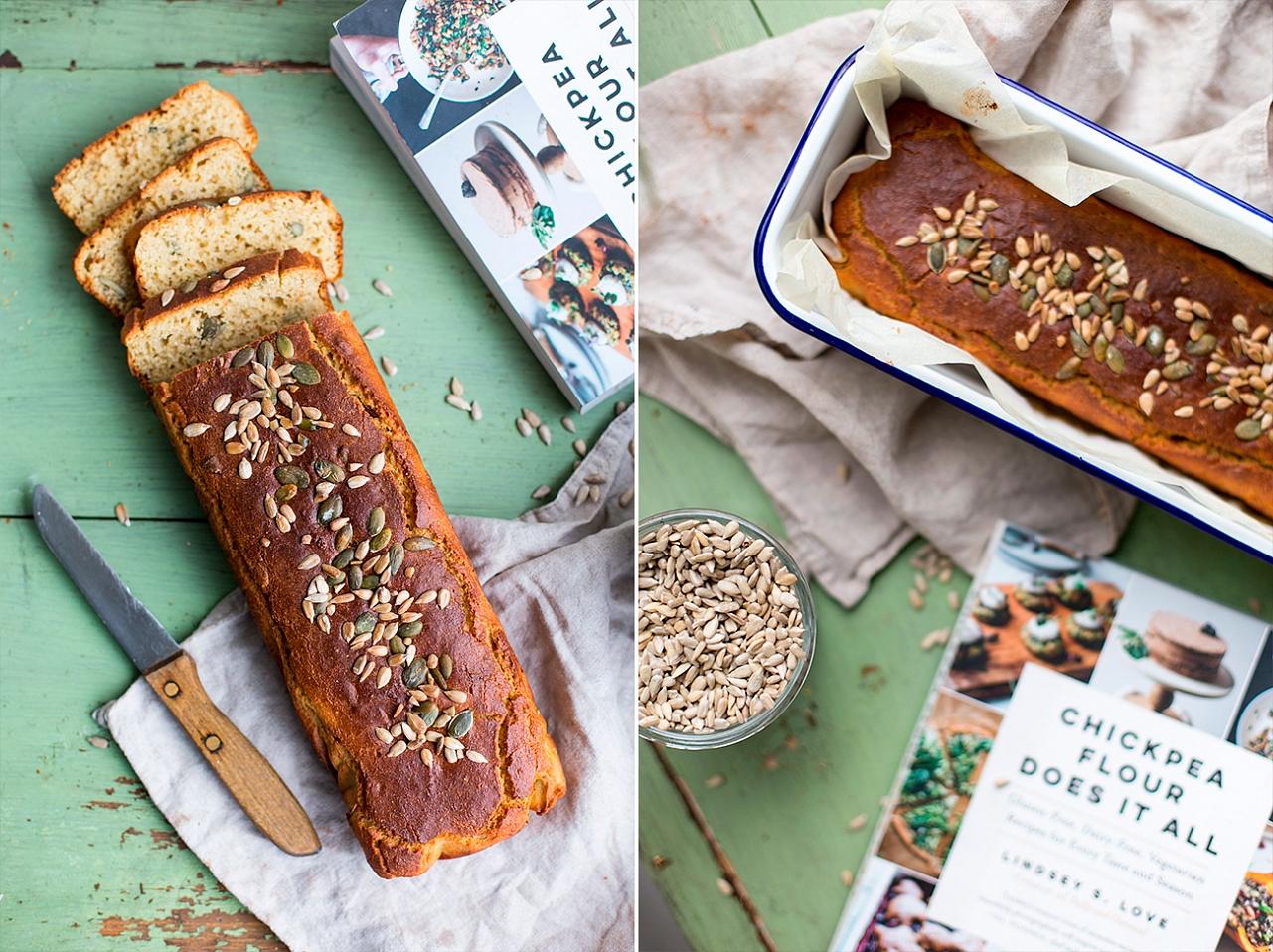 Bezlepkový chleba - cizrnová mouka,rýžová mouka