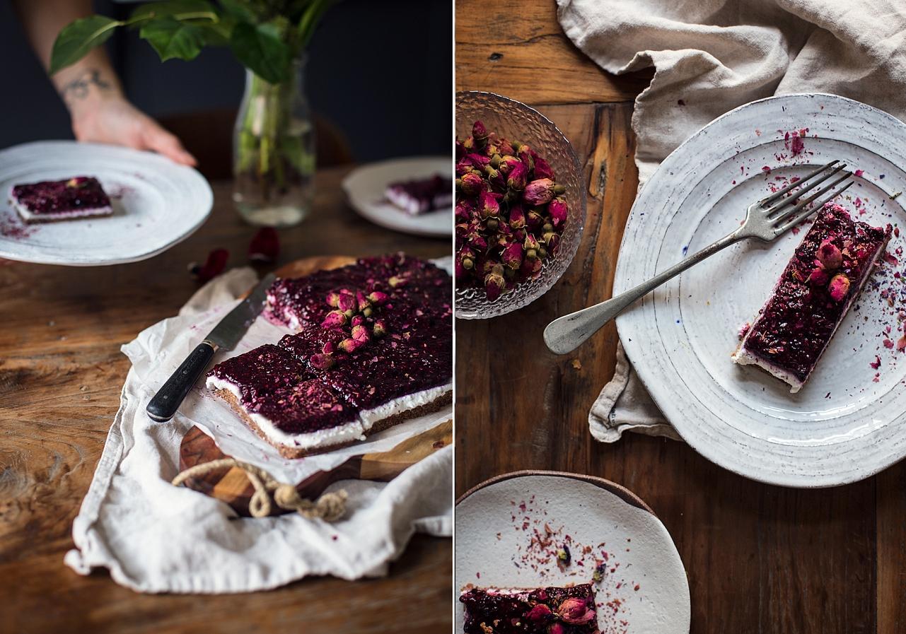 Nepečený tříbarevný  bezlepkový dort
