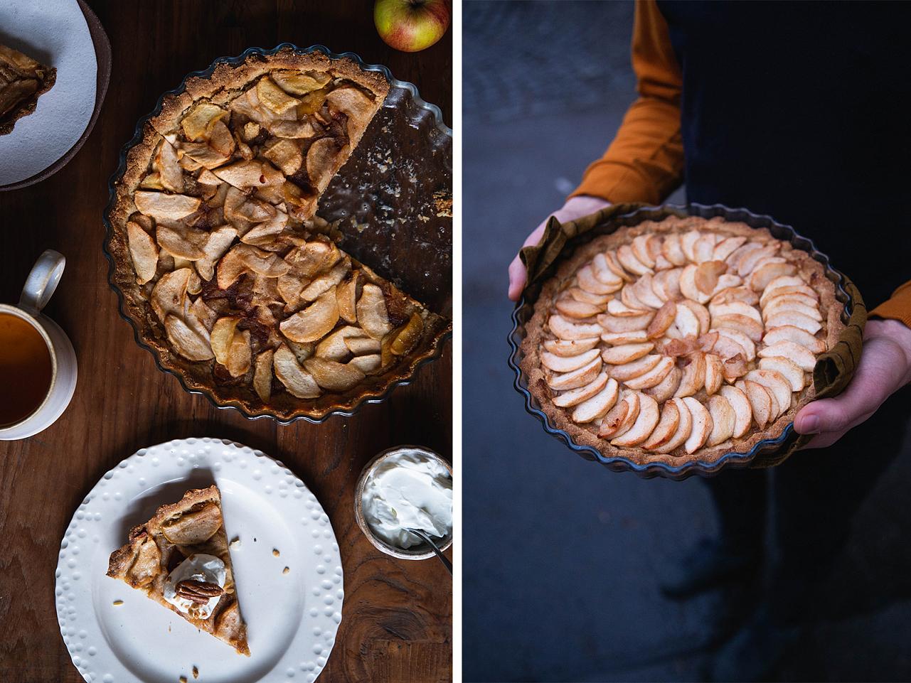 Bezlepkový francouzský jablečný koláč