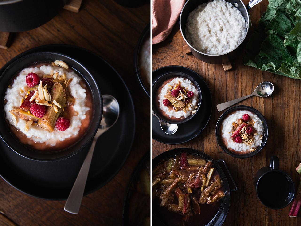 Kokosovo rýžová kaše s rebarborou nebo s jiným ovocem